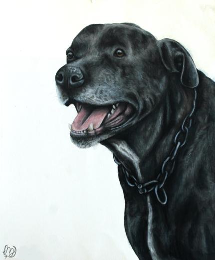 Odie's Memorial Portrait